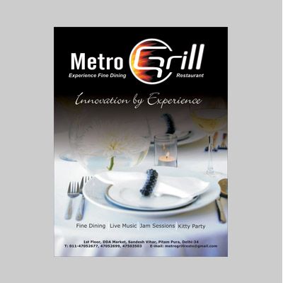Metro Grill Leaftet
