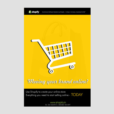 Shopify Newspaper Ad